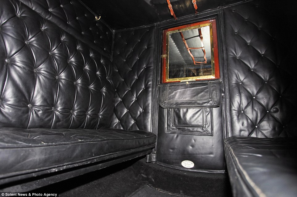 The interior of the 1880 Holland & Holland Drag, which has an estimated value of £90,000.The auction takes place on March 7