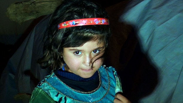 Too young: The BBC documentary about sex slaves being held by Isis in Iraq and Syria shows how girls in refugee camps, like this girl above, are vulnerable to attack