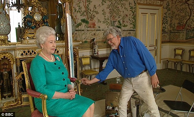 By Royal appointment: The Queen sat for a portrait by Harris to celebrate her 80th birthday in 2006