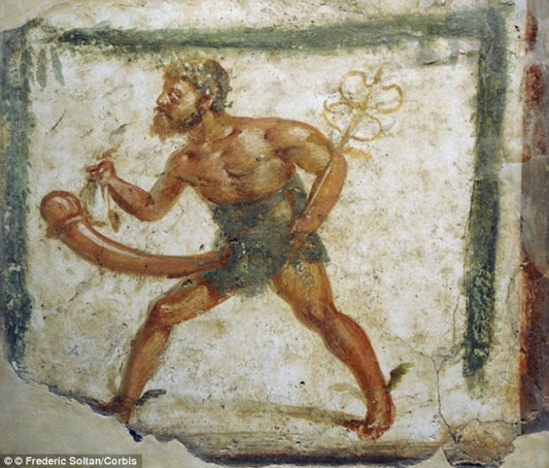 Statues of fertility god Priapus with a large phallus would be used to protect gardens and help crops grow. Priapus was often depicted with oversized, permanent erection, which is where the name for the medical term priapism originated.Priapism is a persistent and often painful erection that lasts for hours
