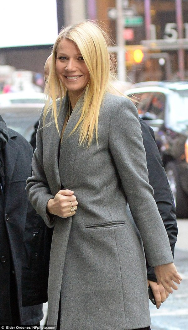 Gwyneth Paltrow in see-through outfit on Good Morning ...