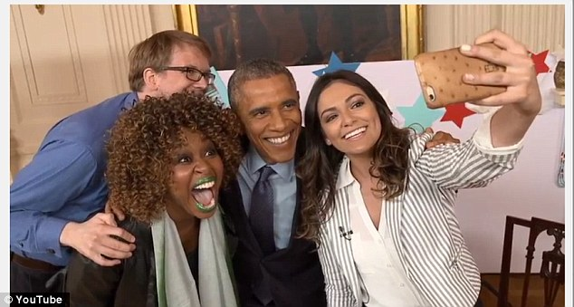 Yes, that is green lipstick on GloZell not regurgitated material.