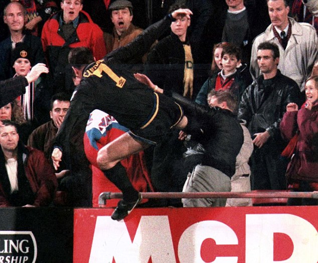 Find funny gifs, cute gifs, reaction gifs and more. Eric Cantona's kung-fu kick on Crystal Palace fan Matthew ...