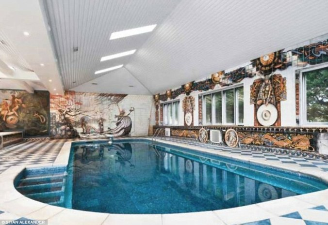If pumping iron is too energetic, there is a rather ornate heated indoor swimming pool