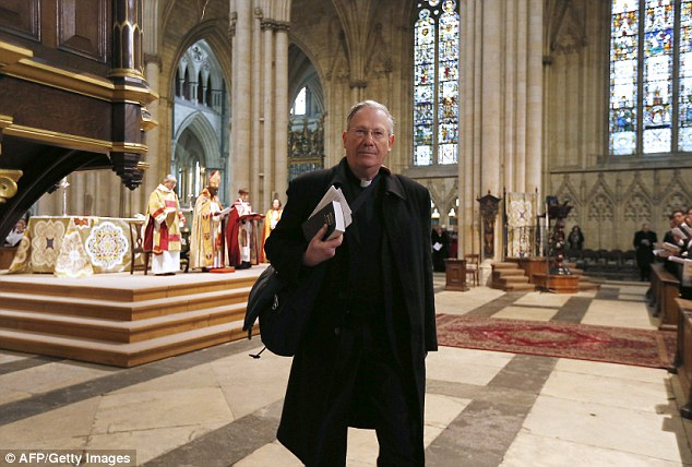 Rev Paul Williamson, an outspoken opponent of women in the church, heckled the ceremony