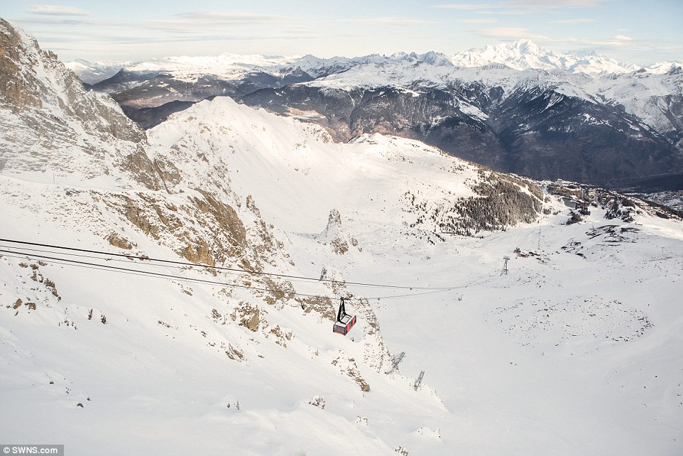 Perhaps unsurprisingly, the company say that the cable car, which is being equipped with a bed and a living room, is there highest ever European listing