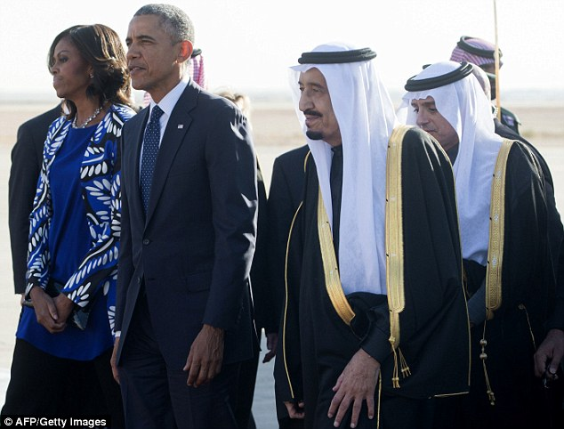Dreaming of the Taj Mahal:Mrs Obama and her husband cut short their India trip - including a planned visit to the Taj Mahal - to lead a delegation of American dignitaties to pay respects to the Saudi royal family on the death of King Abdullah