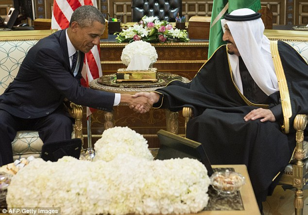 Legacy: Some Saudi women are leading a movement to gain more rights, but the passing of King Abdullah brings little hope of change with his brother King Salman (pictured right with President Obama). In a recent address, King Salman promised to continuing enforcing the country's 'correct policies'
