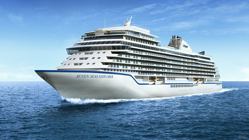 The Seven Seas Explorer is still under construction, but already the plans for rendering are spectacular