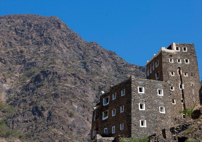 Fortress: The people of Rijal Alma have been forced to fight for their land and as a result, many of the homes look more like fortified castles