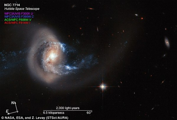 When two galaxies go to war: Hubble spots massive ...