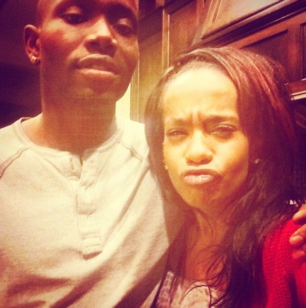 Seemingly happy: This is the last picture Bobbi Kristina Brown posted to Twitter on Saturday, before she was found unconscious in her home's bathtub. She posed for the pictured with a friend and wrote: 'YAYYYY :) finally my famBAM!!!'