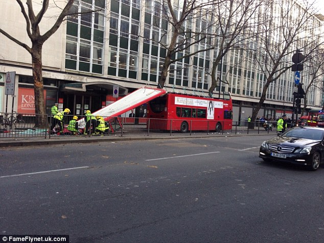 Bus routes in the area had to be diverted with the road sealed off between Great Queen St and Aldwych
