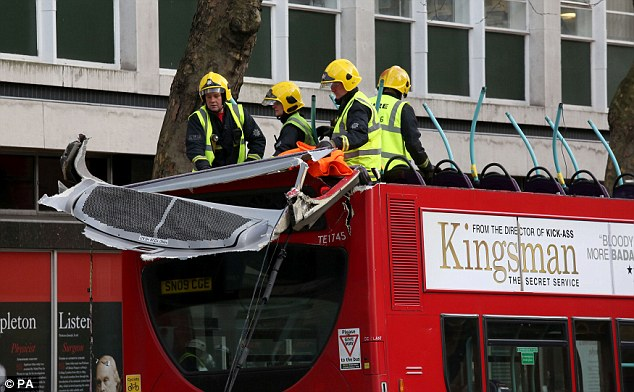 Pictures from the scene suggest that the bus may have clipped a tree overhanging the roadway