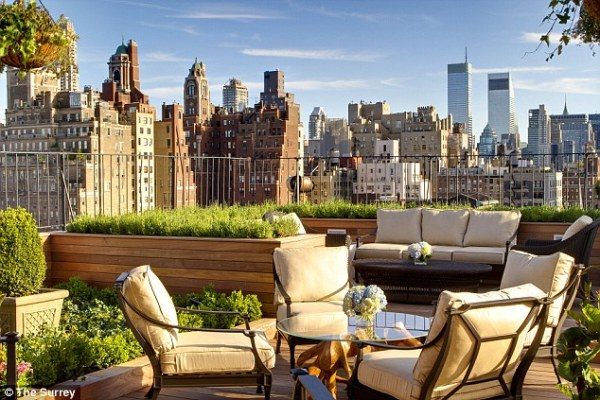 rooftop garden manhattan new york The Surrey may be in Manhattan but a visit is almost like