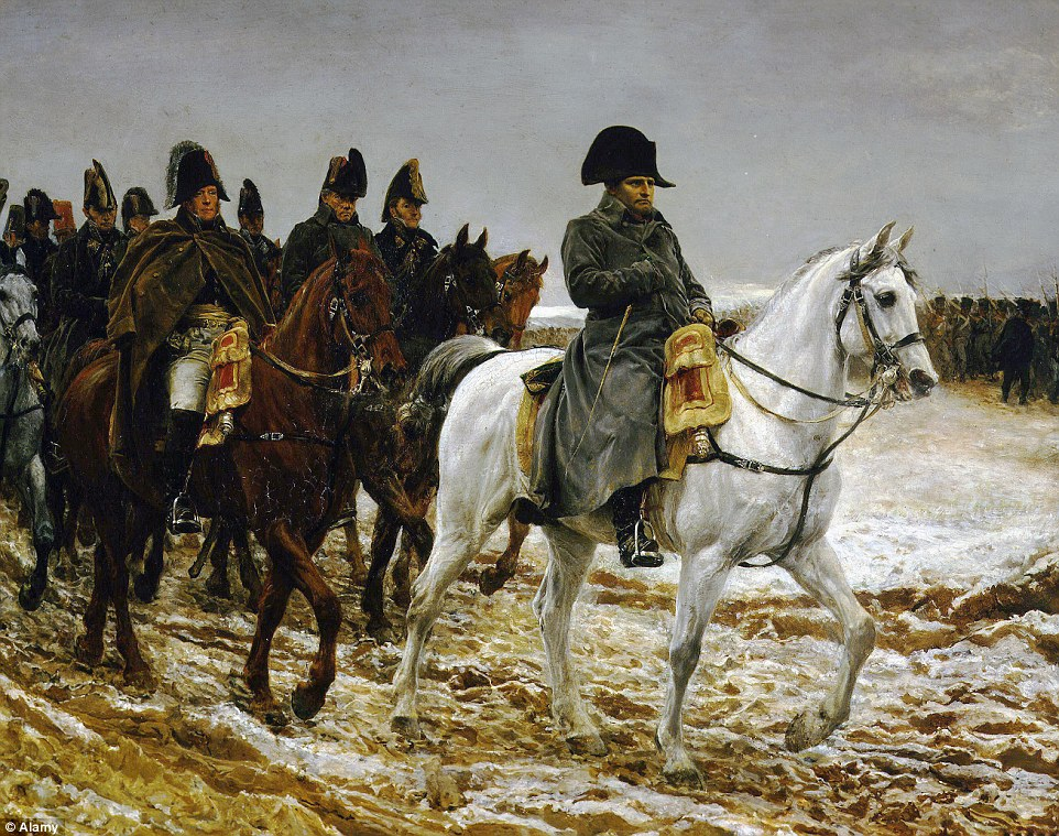 French emperor: Napoleon Bonaparte as pictured in the 1864 painting Campagne de France (1814), by Jean-Louis-Ernest Meissonier