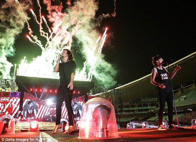 Fireworks have been another highlight of the first night of the tour