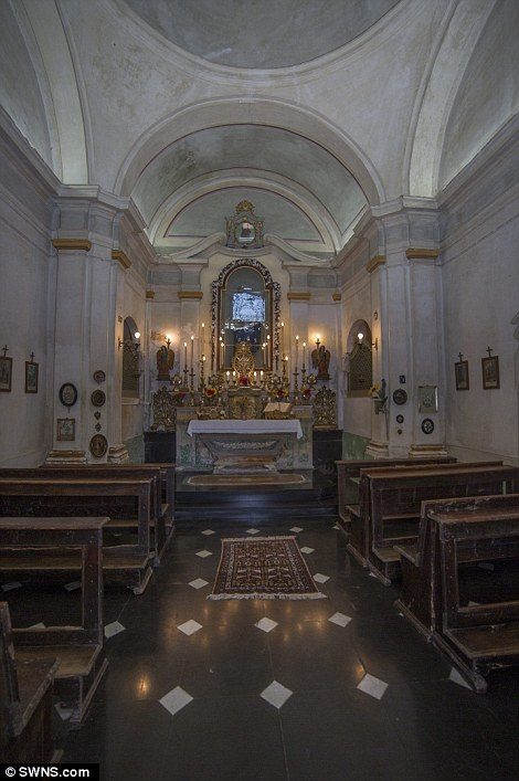 The property has a private chapel with seating for 30 people
