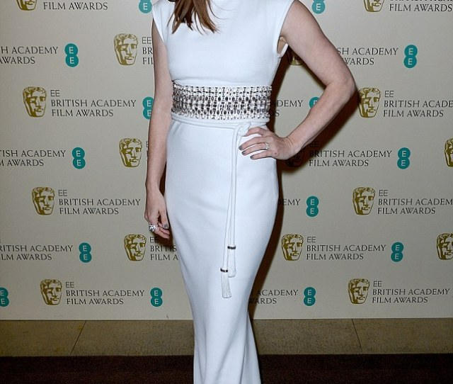 Hollywood Glamour The Stunning Actress Wowed In A White Lanvin Gown As She Attended The