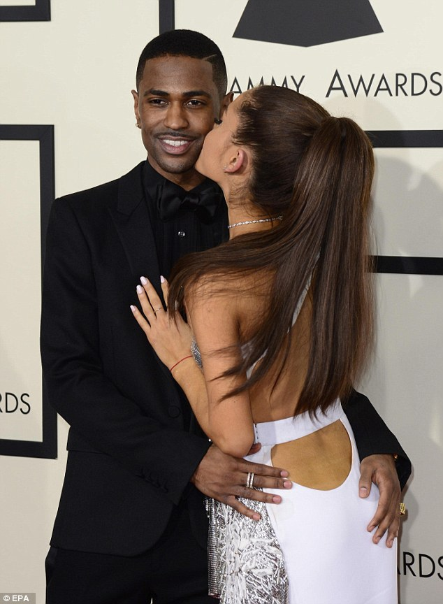 Ariana Grande And Big Sean Get Touchy Feely On Grammys Red
