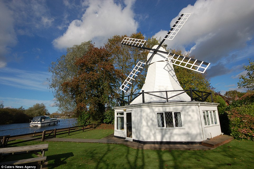 Windmill Goes Up For Sale As The Perfect Holiday Home On River Bure In Norfolk Daily Mail Online