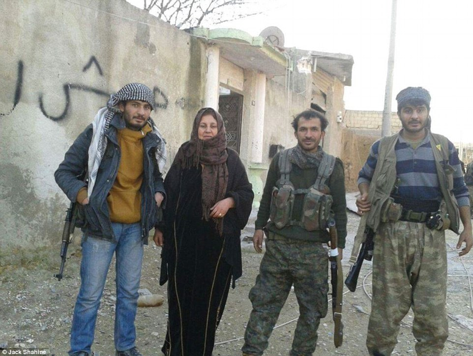 Shahine said Kobane's citizens (pictured) were initially worried about ISIS returning to the area but revealed that many are now cautiously optimistic that the terror group won't want to return all the time the prospect of American and Arab airstrikes continues