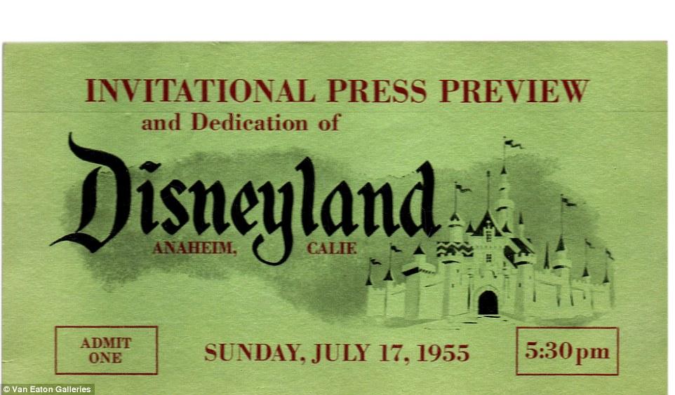 Image result for original disneyland tickets