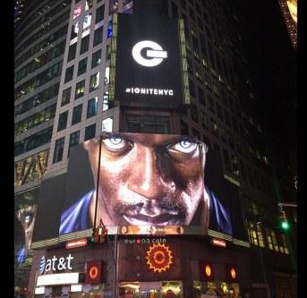 Usain Bolt presenta las Puma Ignite en Times Square