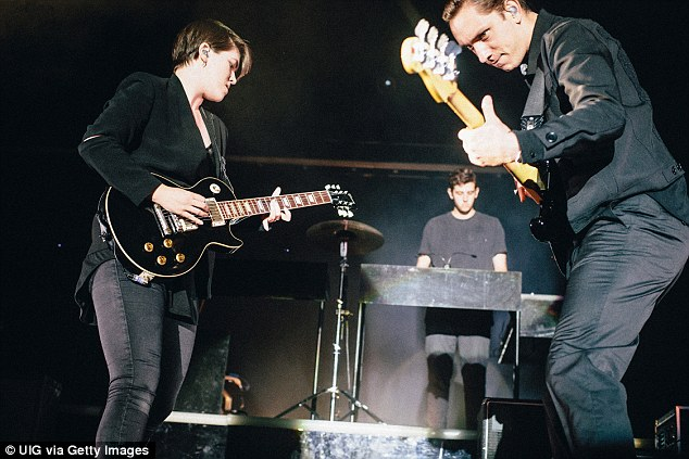 After looking through the 2.5 million playlists, the music streaming service has identified 'Intro' by The xx  (pictured) as the most popular to listen to during sex