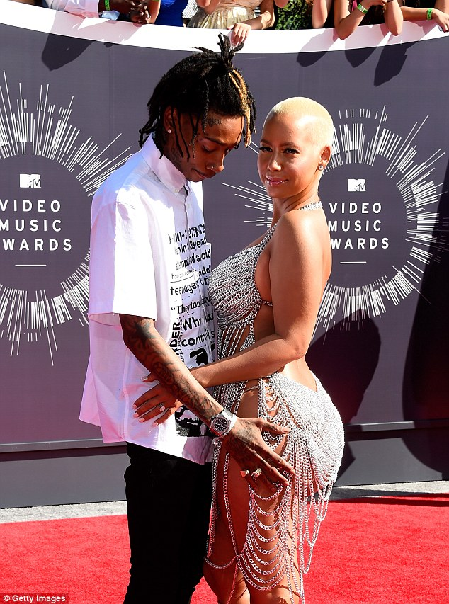 Husband and wife: Amber was married to Wiz Khlaifa for just over a year and filed for divorce in September