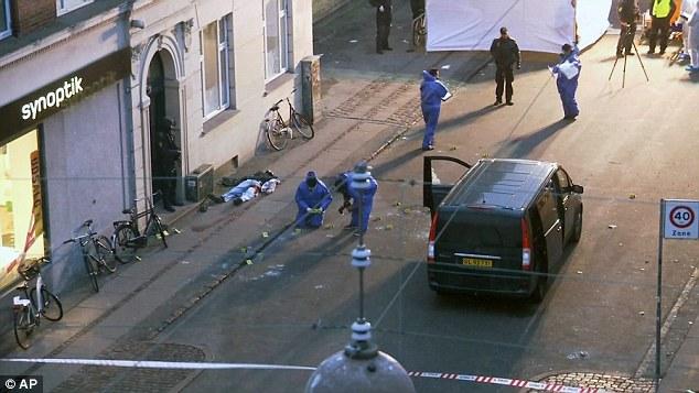 BALEADO: El sospechoso de terrorismo que se cree que han matado a dos hombres en tiroteos separados en Copenhague en el Día de San Valentín fue muerto a tiros por la policía ayer por la mañana después de un enfrentamiento dramático