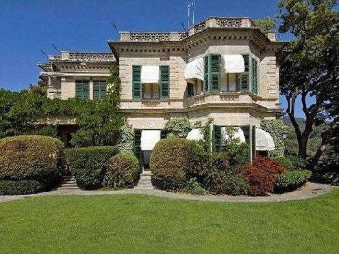 This luxury coastal villa in Italy is said to be jinxed by the curse of Tutankhamun after it was once owned by Lord Carnarvon who discovered the Pharaoh's tomb. Samuel Eto'o is said to have bought the property
