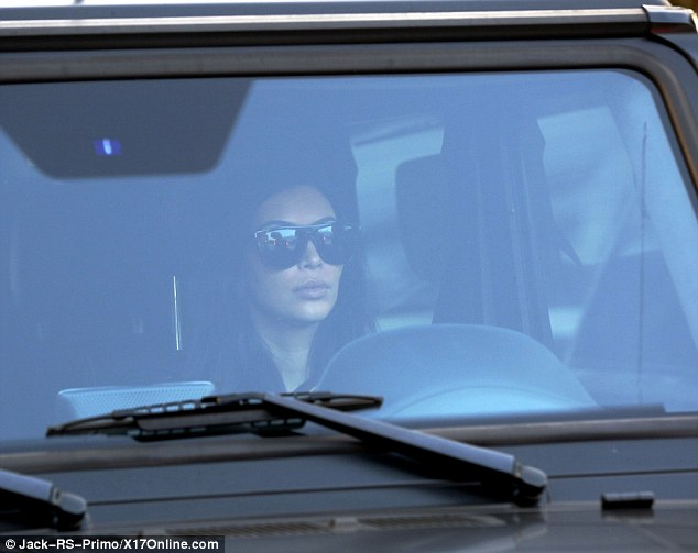 What will Kim say? Kardashian was seen driving back in LA on Monday with a stern look on her face