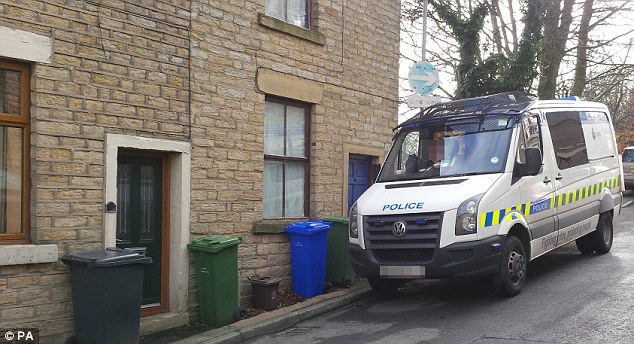 On Monday warrants were executed at two address in the Mossley area of Greater Manchester (pictured)