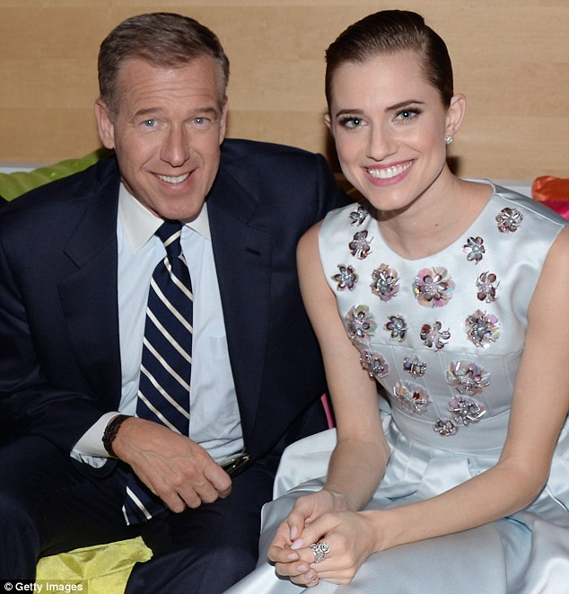 Girls star Allison Williams has spoken out to defend her disgraced father Brian for the first time since he was suspended by NBC for six months for making false claims about his time in Iraq in 2003