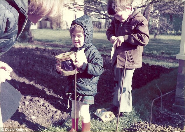 As a young child Julia enjoyed playing with her brother Brett. They are pictured together enjoying an Easter egg hunt in the spring sun