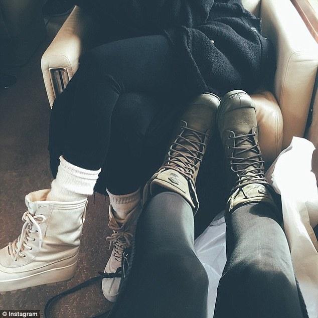 Próxima parada: horas después de que el incidente Kylie publicado una imagen en Instagram en lo que parece ser un jet privado
