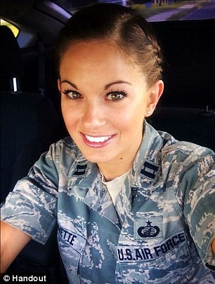 Air Force Reserve Capt. Jamie Brunettewas found dead on February 9 by Tampa police in the back of her locked Chrysler 200 sedan near her apartment