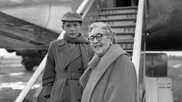 Image result for agatha christie and her grandchild