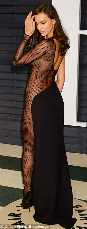 Don't mesh with me! Stunning model Irina Shayk made quite the entrance in an unforgettably revealing dress