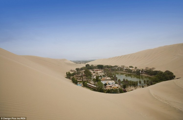 Nestled in one of the driest locations on earth, is Huacachina; a town complete with trees, hotels, shops and even an oasis library - tranquil!