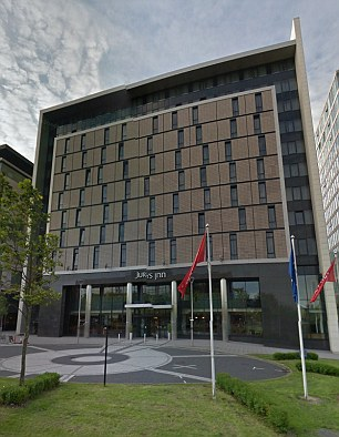 Williams also faces charges of voyeurism after he was accused of using high-tech hidden equipment to spy on unsuspecting women hotel guests at the Jury's Inn in Milton Keynes (pictured) and The Mandolay Hotel, Guildford, Surrey