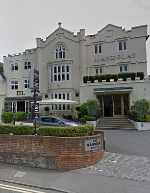 Williams also faces charges of voyeurism after he was accused of using high-tech hidden equipment to spy on unsuspecting women hotel guests at the Jury's Inn in Milton Keynes and The Mandolay Hotel, Guildford, Surrey (pictured)