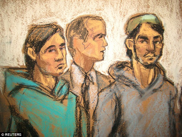 ISIS arrests: The attack in Texas follows a series of ISIS-linked arrestes in the United States. Picutred above are Brooklyn men  Saidakhmetov (L), 19, of Kazakhstan and Abdurasul Hasanovich Juraboev (R), 24, of Uzbekistan, appear with a court interpreter in Brooklyn Federal Court on charges of conspiring to support ISIS