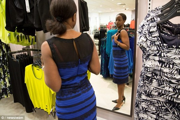 White and gold dress really IS black and blue | Daily Mail ...