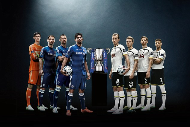 Chelsea will line up against London rivals Spurs in the Capital One Cup final at Wembley on Sunday