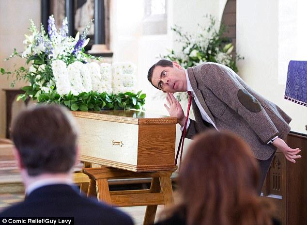 Resultado de imagem para mr bean funeral