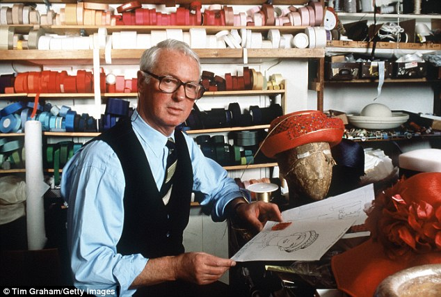 Recipient: Philip Somerville, who died last year aged 84, made the Queen's hats for over 25 years