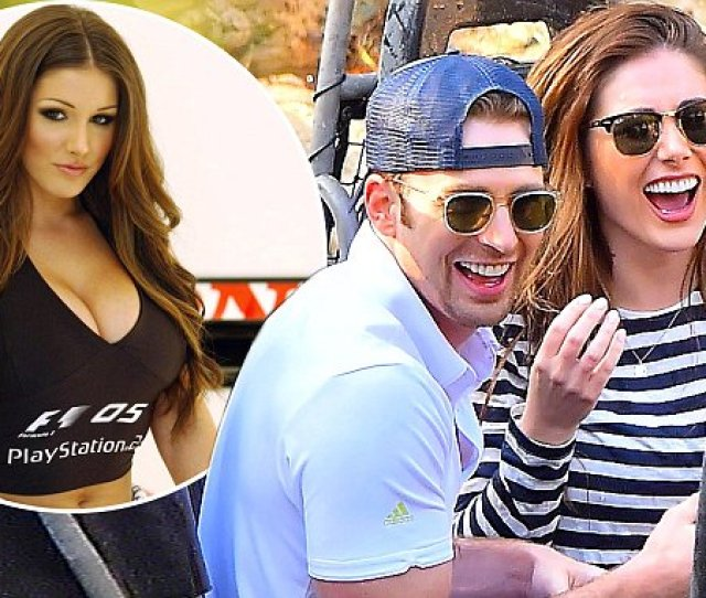 Captain Americas Chris Evans Dating Model Lucy Pinder Daily Mail Online