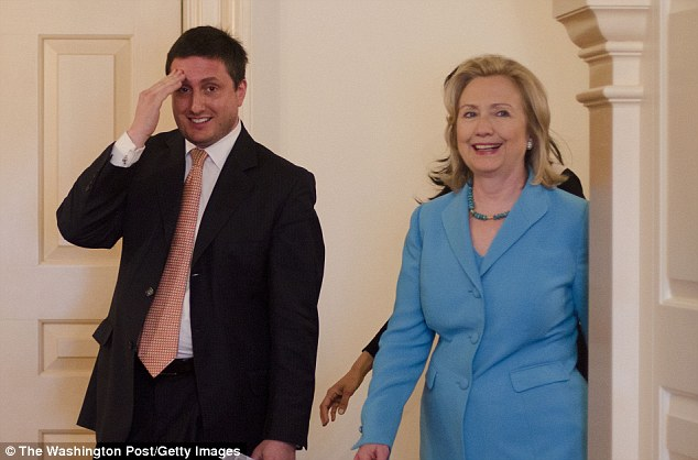 Longtime press aide Philippe Reines (left) insists that he did not have a private Clinton-linked email address, but Gawker reported otherwise
